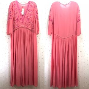 Anthropologie Bl^nk Ibneva Embroidered Dress Sz L